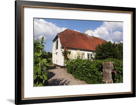 Schleswig-Holstein, Sieseby, Village, Typical Residential House-Catharina Lux-Framed Art Print