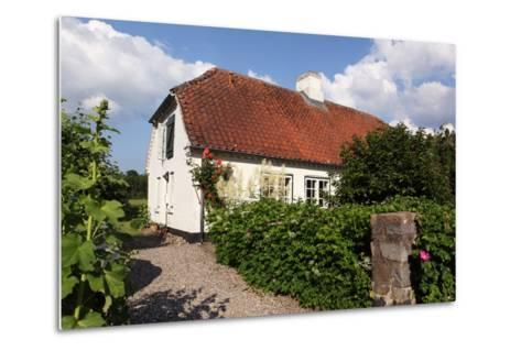 Schleswig-Holstein, Sieseby, Village, Typical Residential House-Catharina Lux-Metal Print