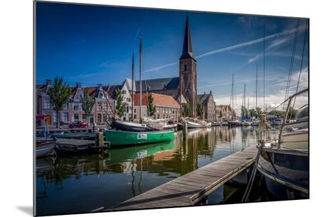 The Netherlands, Frisia, Harlingen, Harbour, Zuiderhaven-Ingo Boelter-Mounted Photographic Print