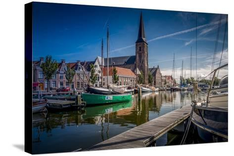 The Netherlands, Frisia, Harlingen, Harbour, Zuiderhaven-Ingo Boelter-Stretched Canvas Print