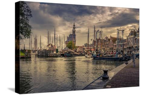 The Netherlands, Hoorn, Harbour, Tower, Hoofdtoren-Ingo Boelter-Stretched Canvas Print