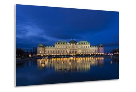 Austria, Vienna, Palace Belvedere, Christmas Market, Christmas Lighting-Gerhard Wild-Metal Print
