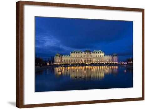 Austria, Vienna, Palace Belvedere, Christmas Market, Christmas Lighting-Gerhard Wild-Framed Art Print