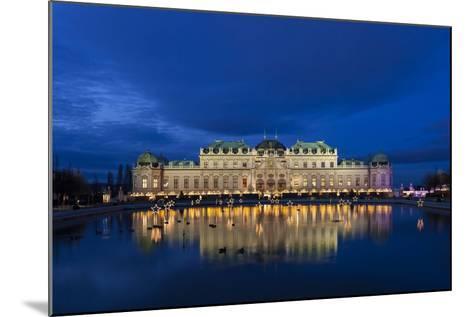 Austria, Vienna, Palace Belvedere, Christmas Market, Christmas Lighting-Gerhard Wild-Mounted Photographic Print