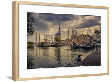 The Netherlands, Hoorn, Harbour, Tower, Hoofdtoren-Ingo Boelter-Framed Art Print