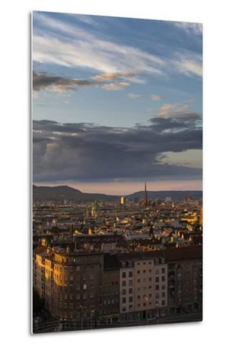 Austria, Vienna, Town View, Overview, St. Stephan's Cathedral, Karlskirche (St. Charles's Church-Gerhard Wild-Metal Print