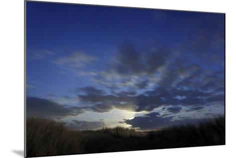 Dune Landscape with Full Moon, Night, Island Fehmarn, Schleswig-Holstein, Germany-Axel Schmies-Mounted Photographic Print