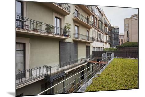 Spain, Catalonia, Barcelona, Residential House, Facade, Balconies-Rainer Mirau-Mounted Photographic Print