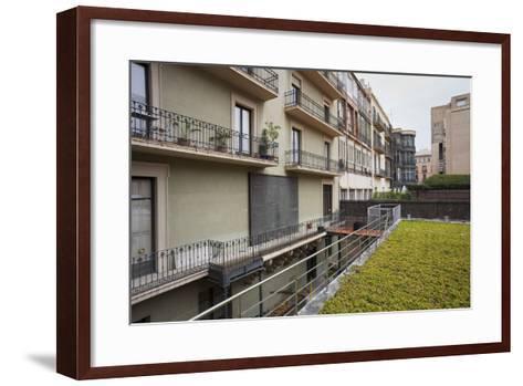 Spain, Catalonia, Barcelona, Residential House, Facade, Balconies-Rainer Mirau-Framed Art Print
