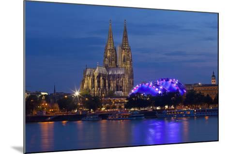 Germany, North Rhine-Westphalia, Cologne, Cathedral, the Rhine, Musikpark, Evening-Chris Seba-Mounted Photographic Print