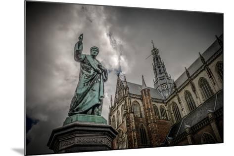 The Netherlands, Haarlem, City Centre, Market, Church, St. Bavo-Ingo Boelter-Mounted Photographic Print