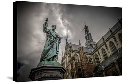 The Netherlands, Haarlem, City Centre, Market, Church, St. Bavo-Ingo Boelter-Stretched Canvas Print