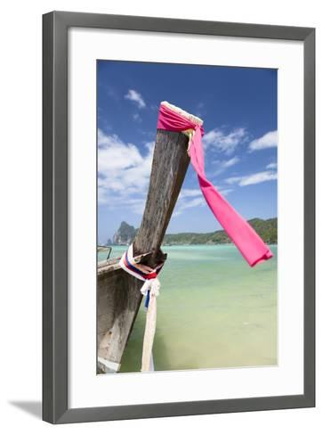 Typical Longtail Boat at Koh Phi Phi, Thailand, Andaman Sea-Harry Marx-Framed Art Print