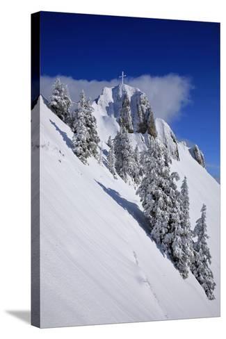 Germany, Bavaria, Highest Spot of the 'Tegelberg' (Mountain) Near FŸssen-Uwe Steffens-Stretched Canvas Print