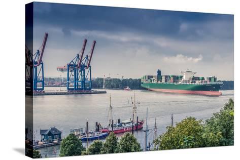 Germany, Hamburg, the Elbe, Fish Market, Harbour-Ingo Boelter-Stretched Canvas Print