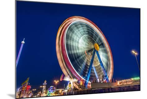 Germany, Bavaria, Upper Bavaria, Munich, Theresienwiese, Oktoberfest, Big Wheel, Evening Mood-Udo Siebig-Mounted Photographic Print