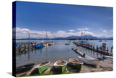 Germany, Bavaria, Upper Bavaria, Chiemgau, Gstadt Am Chiemsee (Lake-Udo Siebig-Stretched Canvas Print