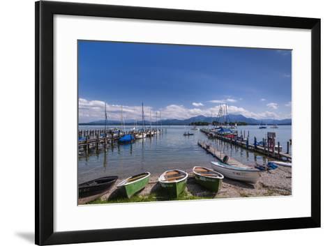 Germany, Bavaria, Upper Bavaria, Chiemgau, Gstadt Am Chiemsee (Lake-Udo Siebig-Framed Art Print