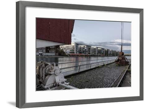Duisburg, North Rhine-Westphalia, Germany, Office Building at the Duisburg Inner Harbour-Bernd Wittelsbach-Framed Art Print
