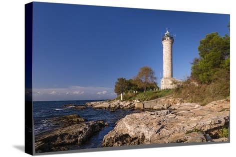 Croatia, Istria, Adriatic Coast, Umag, Village Savudrija, Lighthouse at Cape Savudrija-Udo Siebig-Stretched Canvas Print