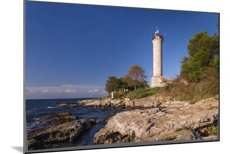 Croatia, Istria, Adriatic Coast, Umag, Village Savudrija, Lighthouse at Cape Savudrija-Udo Siebig-Mounted Photographic Print