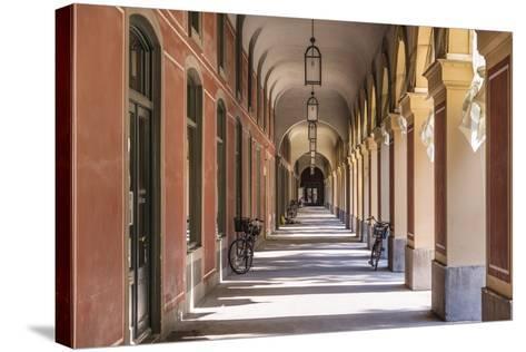 Germany, Bavaria, Upper Bavaria, Munich, Hofgarten (Park), Arcade-Udo Siebig-Stretched Canvas Print
