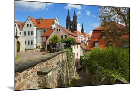 At the Red Steps in the Old Town of Mei§en, View to the Cathedral-Uwe Steffens-Mounted Photographic Print