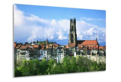 Switzerland, Fribourg on the Sarine River-Uwe Steffens-Metal Print