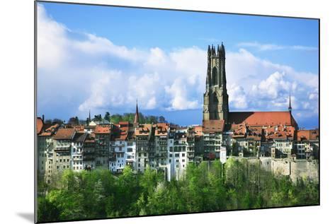 Switzerland, Fribourg on the Sarine River-Uwe Steffens-Mounted Photographic Print