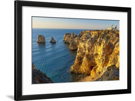 Portugal, Algarve, Lagos, Steep Rock Coast, Sand Bay-Chris Seba-Framed Art Print