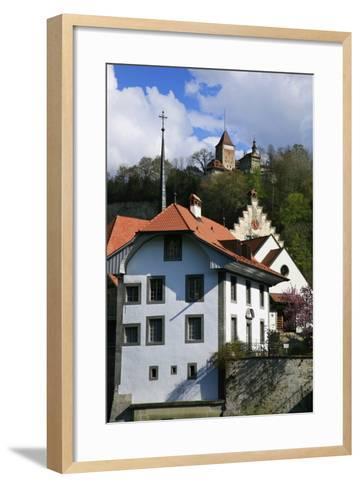 Switzerland, Fribourg on the Sarine River-Uwe Steffens-Framed Art Print