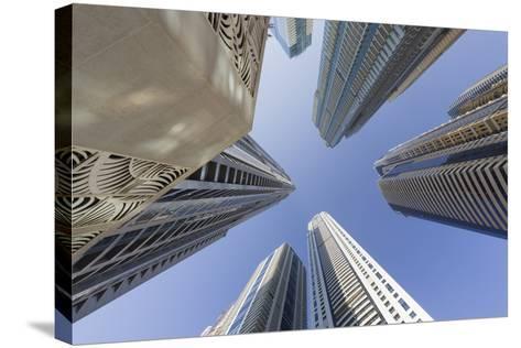Skyscrapers, Dubai Marina, Dubai, United Arab Emirates-Rainer Mirau-Stretched Canvas Print