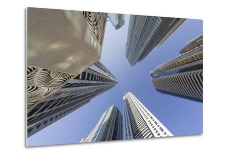 Skyscrapers, Dubai Marina, Dubai, United Arab Emirates-Rainer Mirau-Metal Print