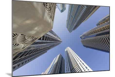 Skyscrapers, Dubai Marina, Dubai, United Arab Emirates-Rainer Mirau-Mounted Photographic Print