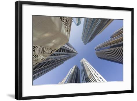 Skyscrapers, Dubai Marina, Dubai, United Arab Emirates-Rainer Mirau-Framed Art Print
