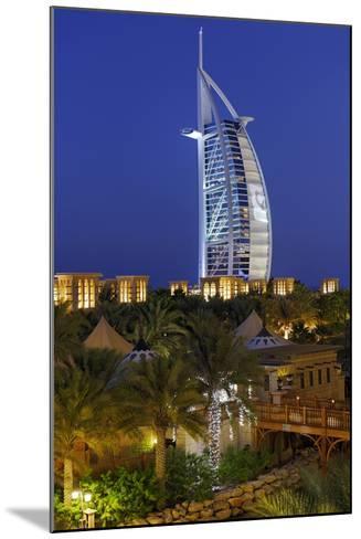 Burj Al Arab and Medinat Hotels, 7 Stars Hotel, Jumeirah, Dubai, United Arab Emirates-Axel Schmies-Mounted Photographic Print