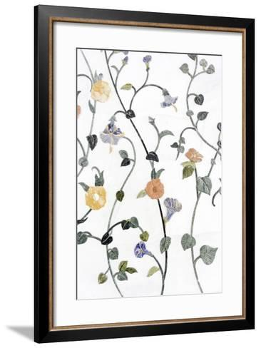 Floral Mosaic, Anteroom, Third-Biggest Mosque of the World-Axel Schmies-Framed Art Print