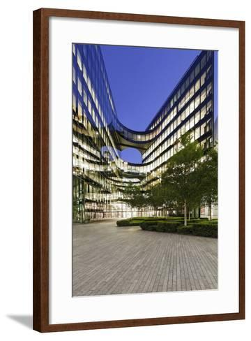 Modern Architecture, Office Buildings on the South Shore of the Thames, Bermondsey, London, England-Axel Schmies-Framed Art Print