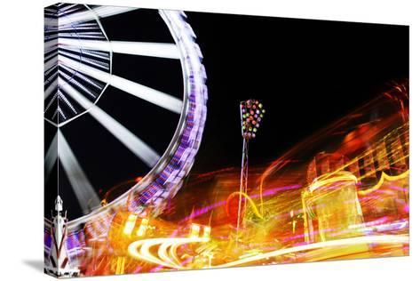 Hamburg Dom, Carousel, Amusement Ride, Motion, Dynamic-Axel Schmies-Stretched Canvas Print