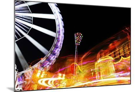 Hamburg Dom, Carousel, Amusement Ride, Motion, Dynamic-Axel Schmies-Mounted Photographic Print