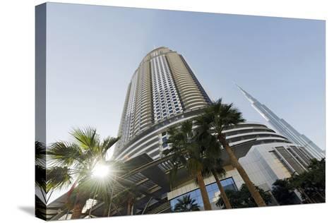 Luxury Hotel the Address, 63 Floors, Metropolis, Downtown Dubai, Dubai, United Arab Emirates-Axel Schmies-Stretched Canvas Print