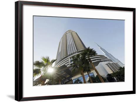 Luxury Hotel the Address, 63 Floors, Metropolis, Downtown Dubai, Dubai, United Arab Emirates-Axel Schmies-Framed Art Print