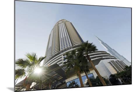 Luxury Hotel the Address, 63 Floors, Metropolis, Downtown Dubai, Dubai, United Arab Emirates-Axel Schmies-Mounted Photographic Print