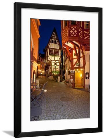 Germany, Rhineland-Palatinate, the Moselle, Bernkastel-Kues, SpitzenhŠuschen, 1583, Evening-Chris Seba-Framed Art Print
