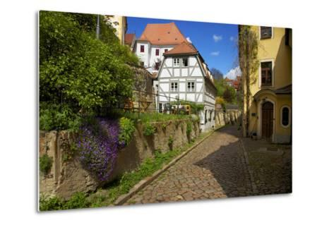 Timber-Frame at the 'Freiheit' in the Old Town of Mei§en-Uwe Steffens-Metal Print