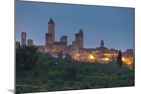 Italy, Tuscany, Province Siena, San Gimignano, Night-Rainer Mirau-Mounted Photographic Print