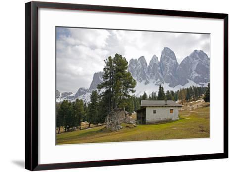 Italy, South Tyrol, the Dolomites, Geislerspitzen-Alfons Rumberger-Framed Art Print
