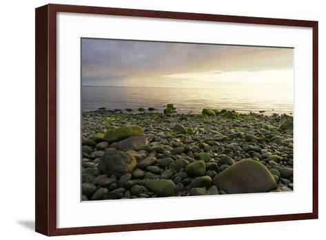Iceland, Gardskagi, Coast, Stones-Catharina Lux-Framed Art Print