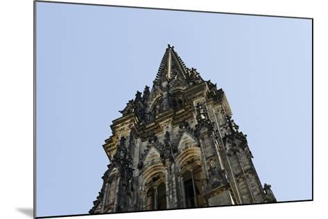Steeple of the Nikolaikirche, St Nikolai, Hamburg-Mitte, Hanseatic City of Hamburg, Germany-Axel Schmies-Mounted Photographic Print