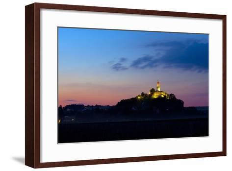 Germany, Hessen, Northern Hessen, Felsberg, Felsburg, 11. Cent., Dusk-Chris Seba-Framed Art Print